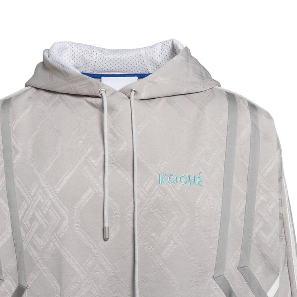 Grey sweatshirt with geometric pattern                                                                                                                 KOCHE'