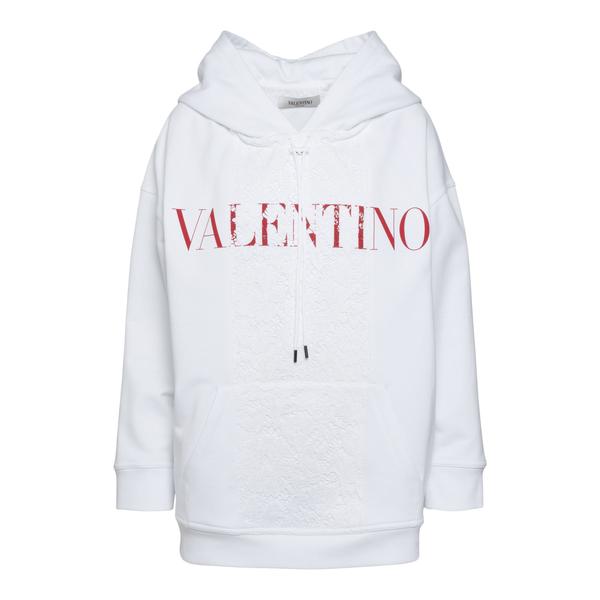 Felpa bianca con pizzo                                                                                                                                Valentino WB3MF10S retro