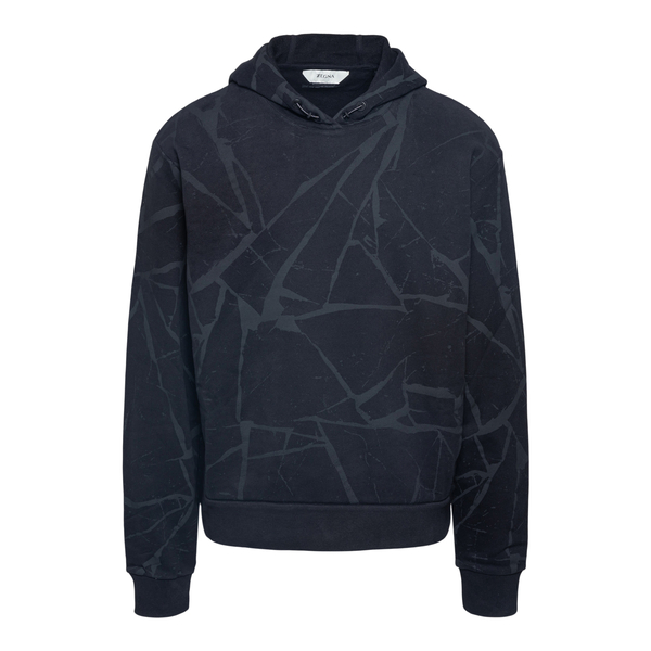 Black sweatshirt with graphic motif                                                                                                                   Zegna ZZ89AC back