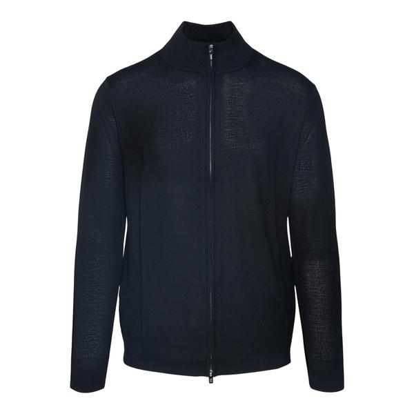 Maglione nero con zip                                                                                                                                 Emporio Armani 8N1MUZ retro