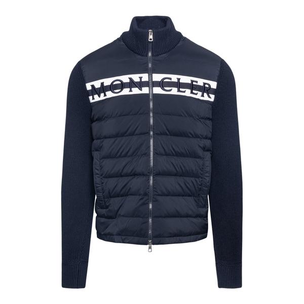 Maglione blu in design imbottito                                                                                                                      Moncler 9B00001 retro