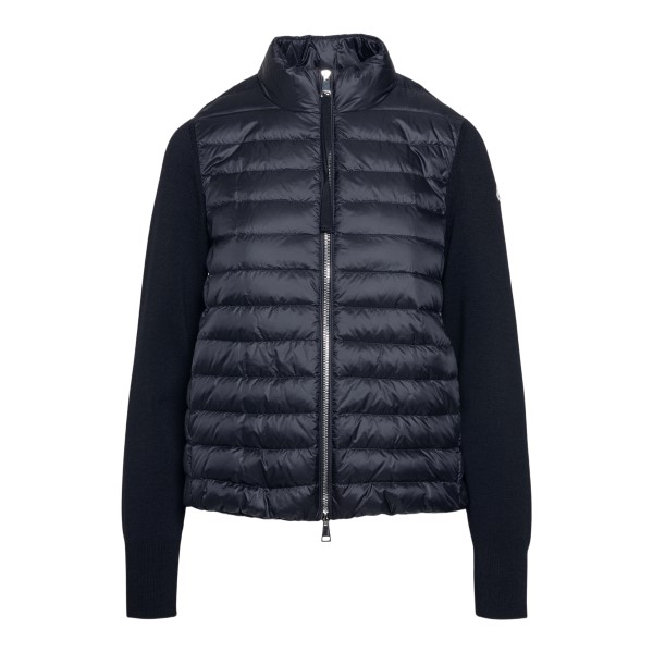 Black padded sweater                                                                                                                                  Moncler 9B50400 front