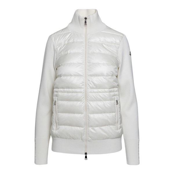 White sweater with front padding                                                                                                                      Moncler 9B53200 front