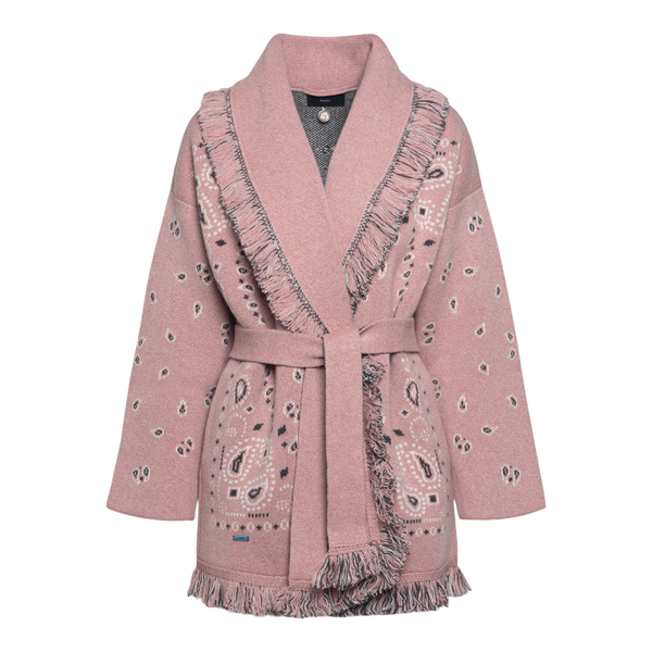 Pink cardigan with paisley print                                                                                                                      Alanui LWHB053F21KNI002 back