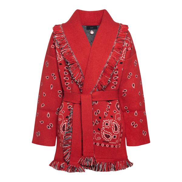 Red cardigan with paisley print                                                                                                                       Alanui LWHB053F21KNI002 back