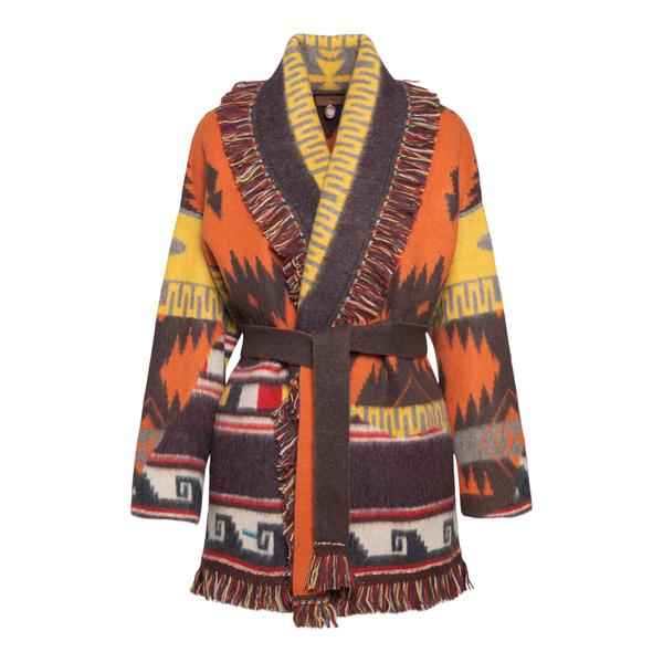 Wrap cardigan with prints                                                                                                                             Alanui LWHB053F21KNI022 back