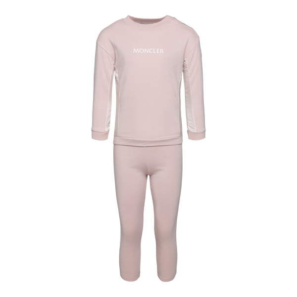 Pink sports suit with logo                                                                                                                            Moncler 8M77310 back