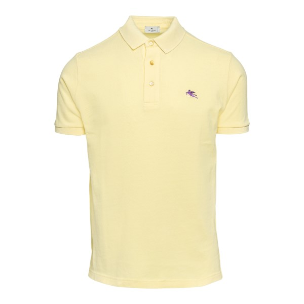 Yellow polo shirt with logo                                                                                                                           Etro 1Y140 front