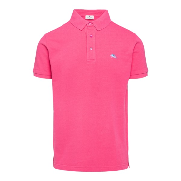 Pink polo shirt with logo embroidery                                                                                                                  Etro 1Y140 front
