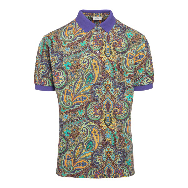 Multicolored polo shirt with paisley print                                                                                                            Etro 1Y800 front