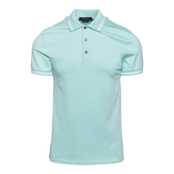 Light blue polo shirt with logo embroidery                                                                                                            Zegna 746SR back
