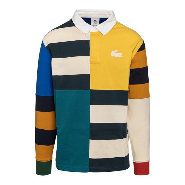 Multicolored polo shirt in panel design                                                                                                               Lacoste L!ve ABDH0833 back