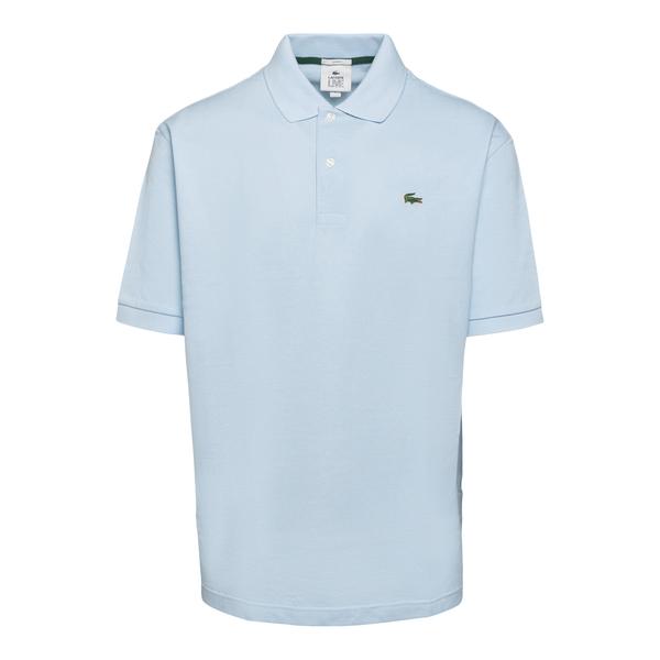Polo azzurra con patch logo                                                                                                                           Lacoste L!ve ABPH9164 retro