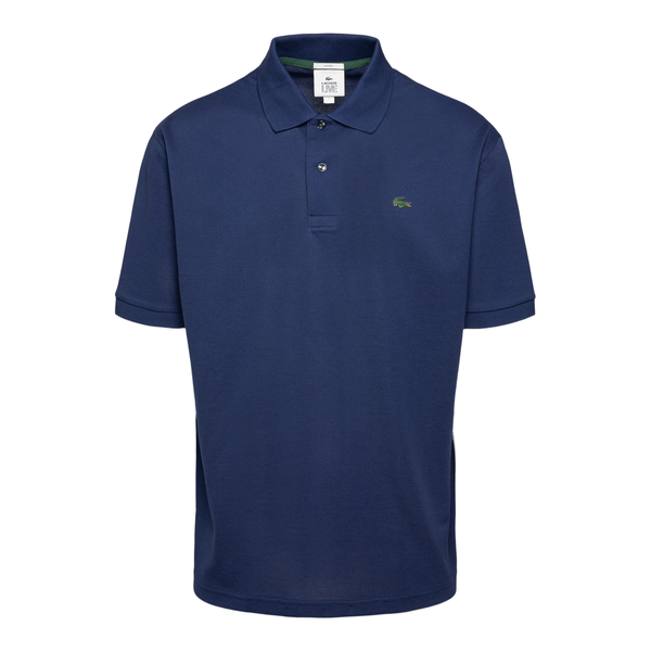 Blue polo shirt with metal logo                                                                                                                       Lacoste L!ve ABPH9164 back