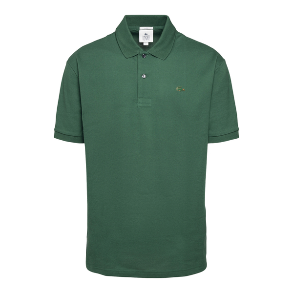 Green polo shirt with logo patch                                                                                                                      Lacoste L!ve ABPH9164 back