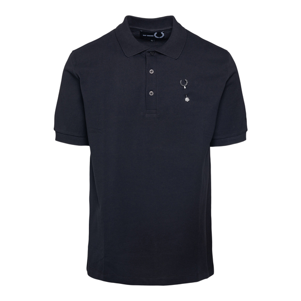 Black polo shirt with logo application                                                                                                                Fred Perry SM1850 back