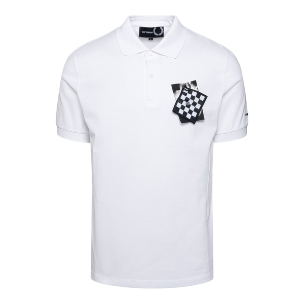 White polo shirt with patch application                                                                                                               Fred Perry SM1852 back