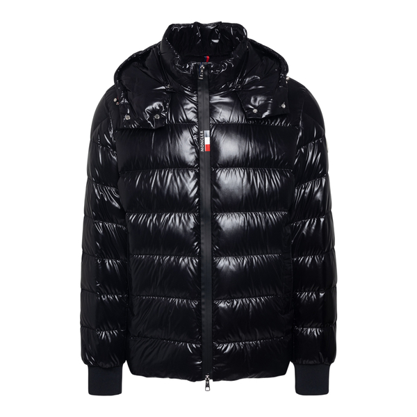 Glossy black down jacket                                                                                                                              Moncler 1A00002 back