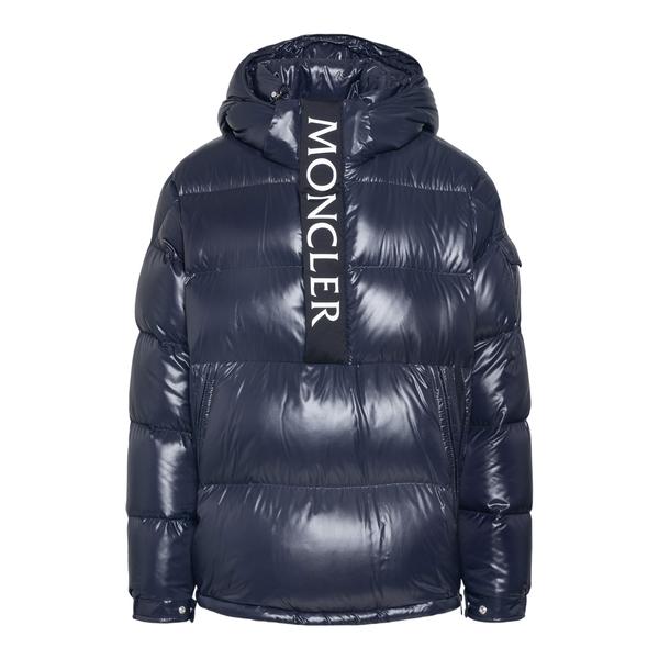 Piumino blu con nome brand                                                                                                                            Moncler 1A00040 retro