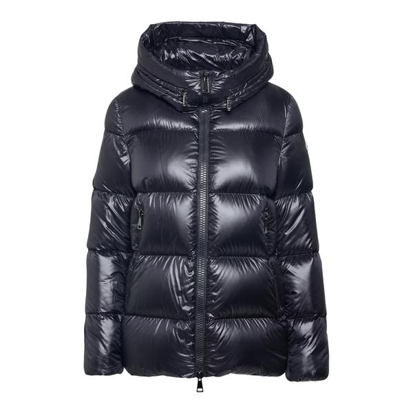 Matte black down jacket                                                                                                                               Moncler 1A20000 back