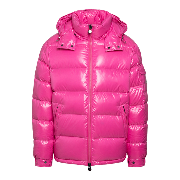 Fuchsia down jacket with logo                                                                                                                         Moncler 1A53600 back