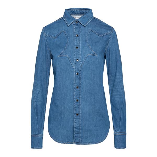 Camicia blu in denim                                                                                                                                  Saint Laurent 659936 retro