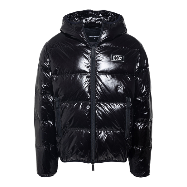 Black down jacket with logo                                                                                                                           Dsquared2 S74AM1201 back