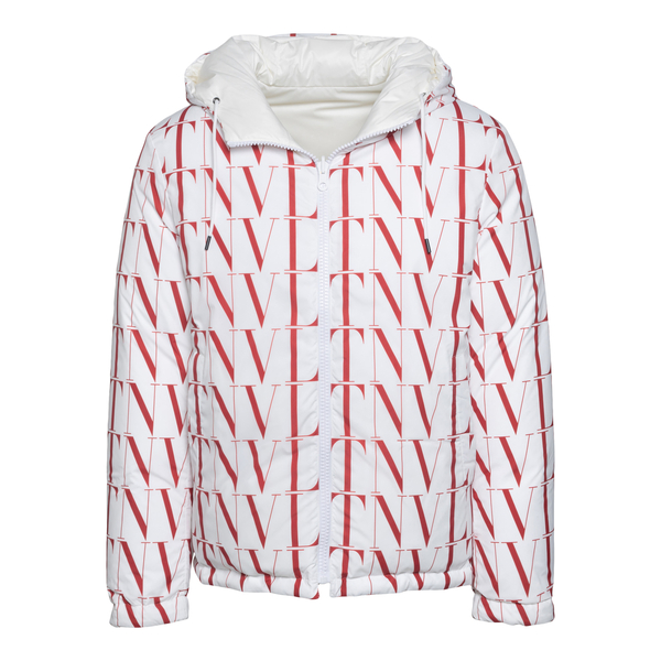 White down jacket with all-over logo                                                                                                                  Valentino WV3CNB30 back