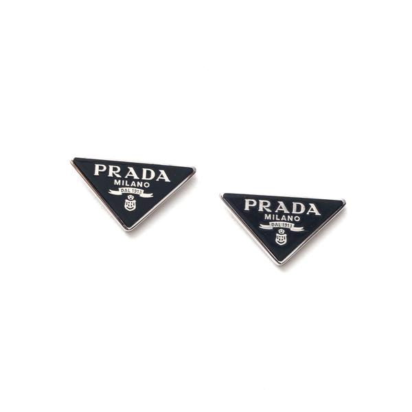 Triangle earrings with logo                                                                                                                           Prada 1JO720 back