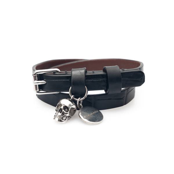 Black bracelet with skull                                                                                                                             Alexander Mcqueen 554466 back