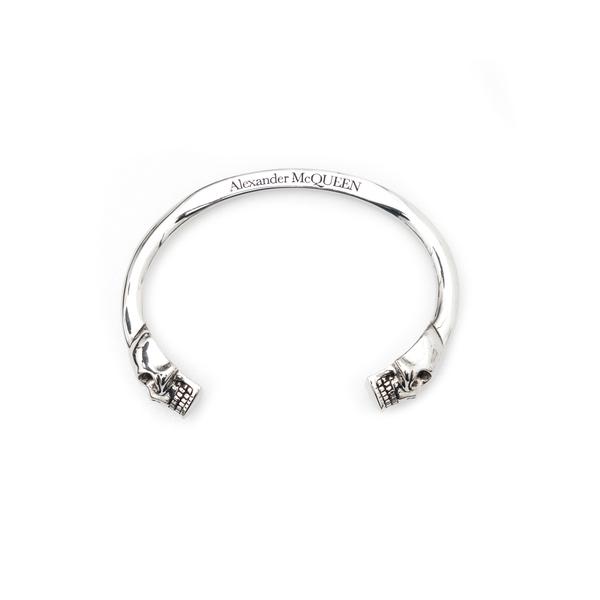 Silver bracelet with skulls                                                                                                                           Alexander Mcqueen 554487 back