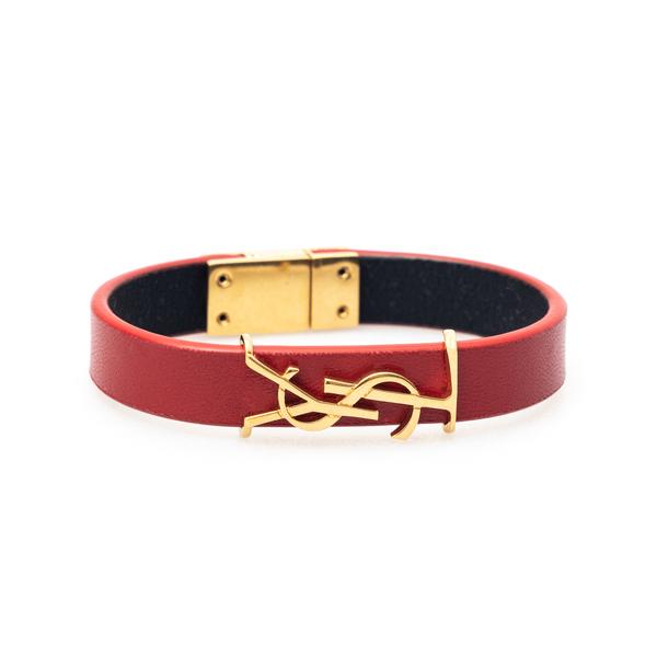 Red strap bracelet with gold logo                                                                                                                     Saint Laurent 559355 back