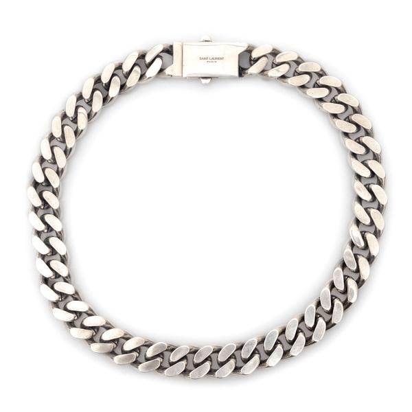 Silver chain necklace                                                                                                                                 Saint Laurent 593119 back