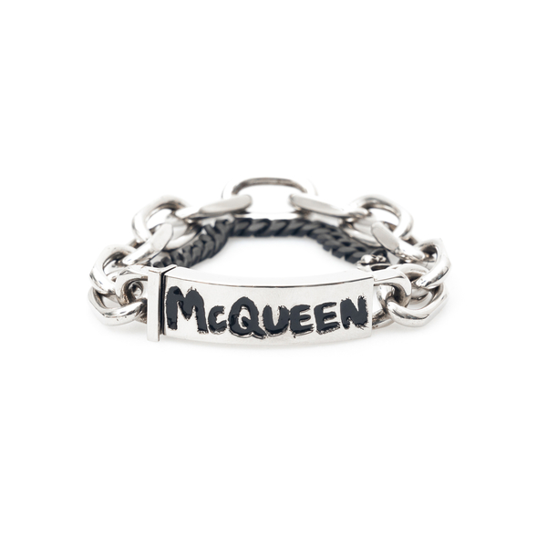 Chain bracelet with brand name                                                                                                                        Alexander Mcqueen 663857 back