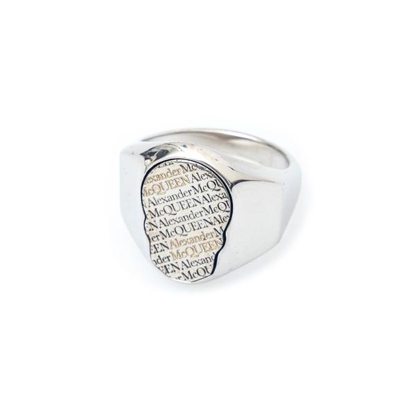 Ring with rhinestone skull                                                                                                                            Alexander Mcqueen 669931 back
