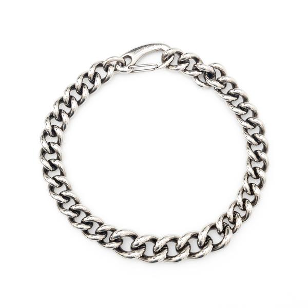 Silver chain necklace                                                                                                                                 Alexander Mcqueen 670325 back
