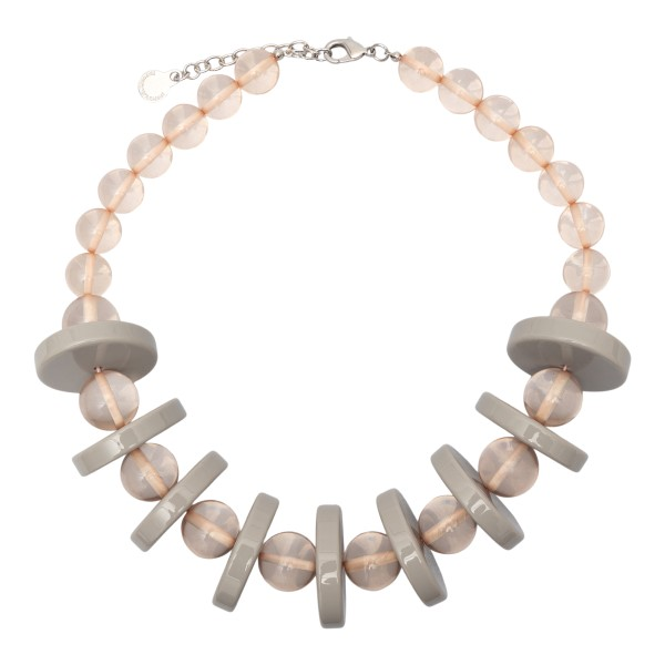 Necklace with pink and grey beads                                                                                                                     Emporio Armani 860299 back