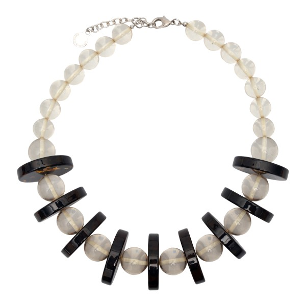 Necklace with beige and black beads                                                                                                                   Emporio Armani 860299 back