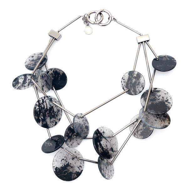 Necklace with circle pendants                                                                                                                         Emporio Armani 860403 back
