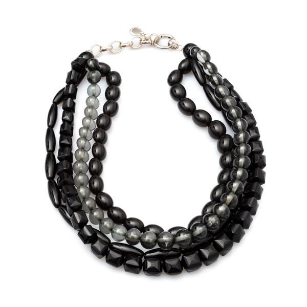 Multi strand necklace with geometric beads                                                                                                            Emporio Armani 860413 back