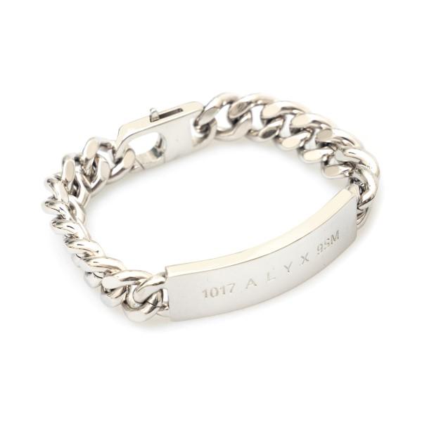 Silver bracelet with logo plaque                                                                                                                      Alyx AAUJW0119OT01 back