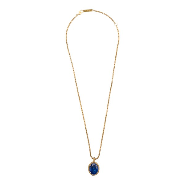 Golden necklace with blue stone                                                                                                                       Ambush BMOB059S21MET001 front