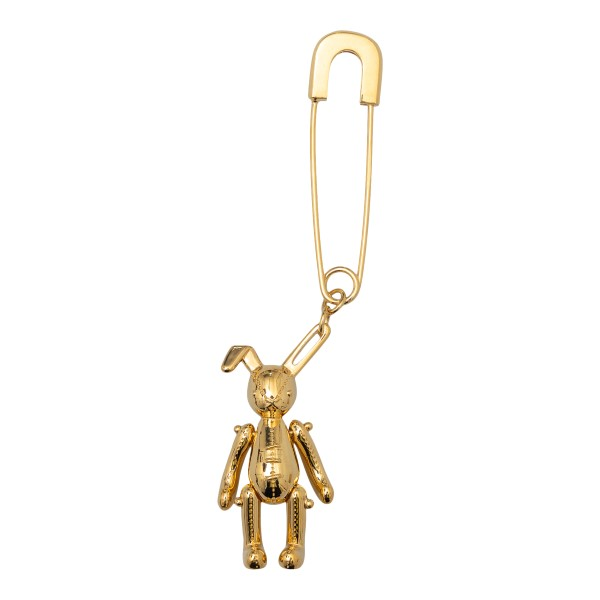 Gold safety pin with bunny                                                                                                                            Ambush BWOD012S21MET0027600 back