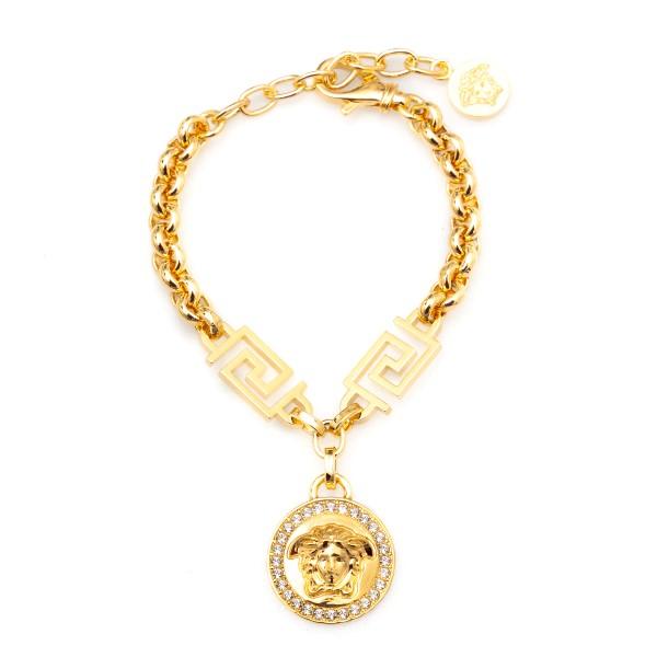 Bracciale dorato con Medusa                                                                                                                           Versace DG0E010 fronte