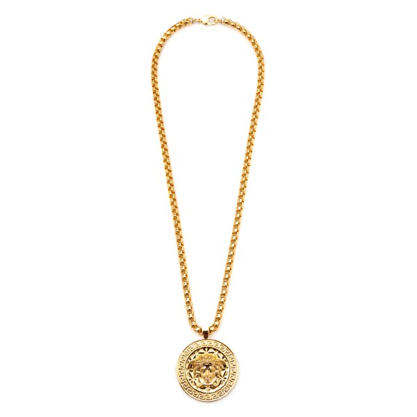 Gold necklace with Medusa                                                                                                                             Versace DG14703 back