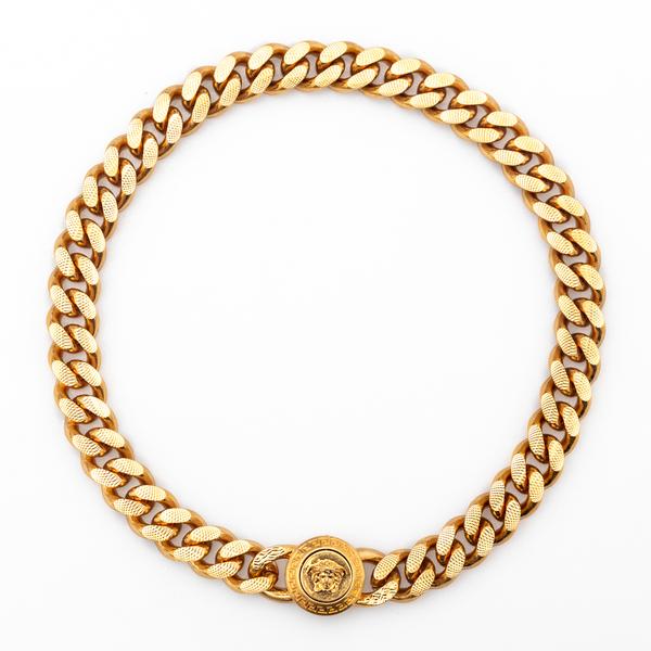 Gold medusa necklace                                                                                                                                  Versace DG16949 back