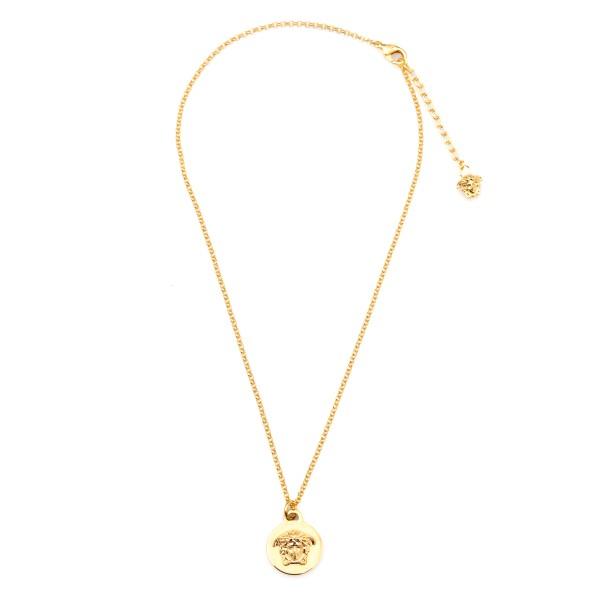 Gold medusa necklace                                                                                                                                  Versace DG1F009 front