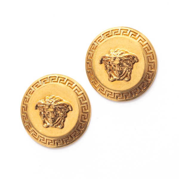 Golden Medusa earrings                                                                                                                                Versace DG2G411 front