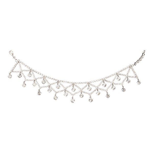 Mesh necklace with crystals                                                                                                                           Alessandra Rich FABA2272 back