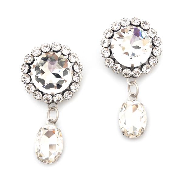 Orecchini con cristalli pendenti                                                                                                                      Alessandra Rich FABA2368 retro